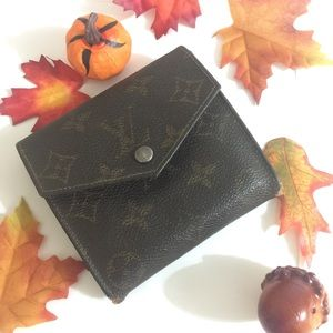 💋Offers💋LOUIS VUITTON Hook Purse Monogram Wallet
